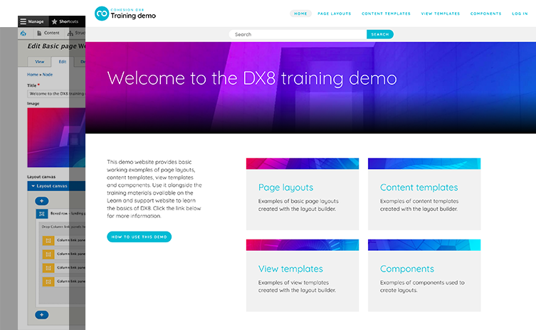 Thumbnail of Training demo website