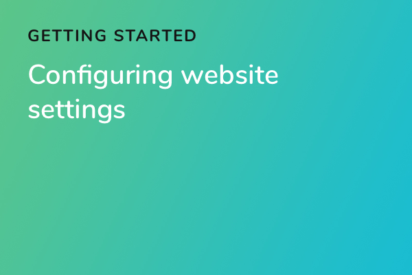 Configuring website settings
