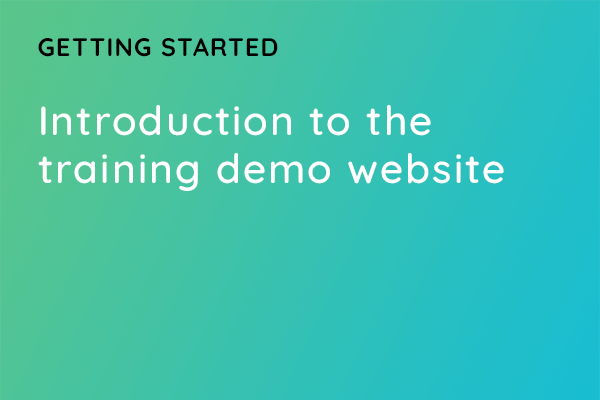 Introduction to the training demo website